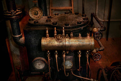 Steampunk - Plumbing - The Valve Matrix Poster by Mike Savad