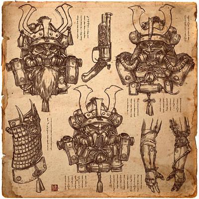Steampunk Samurai Concept Poster by James Ng