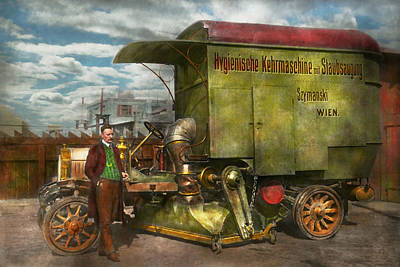Steampunk - Street Cleaner - The Hygiene Machine 1910 Poster by Mike Savad