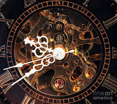 Steampunk Time Poster by John Rizzuto