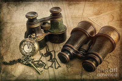 Steampunk Travel Plans Poster by Ann Garrett