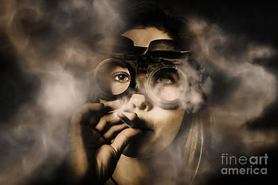 Steampunk Welder Smoking Cigarette Poster by Jorgo Photography - Wall Art Gallery