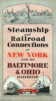 Steamship And Railroad Connections At New York Poster