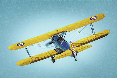Poster featuring the photograph Stearman by James Barber