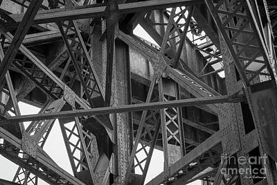 Steel Intersections Steel Bridge Beam Construction Art Poster
