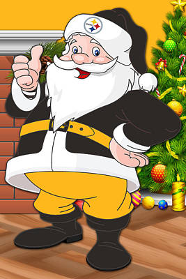 Steelers Santa Claus Poster