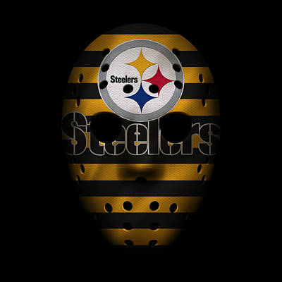 Steelers War Mask 2 Poster by Joe Hamilton