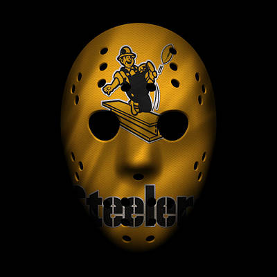 Steelers War Mask 3 Poster by Joe Hamilton