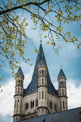 Steeple Of Great Saint Martin Church - Cologne - Germany Poster