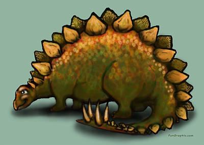 Stegosaurus Poster by Kevin Middleton