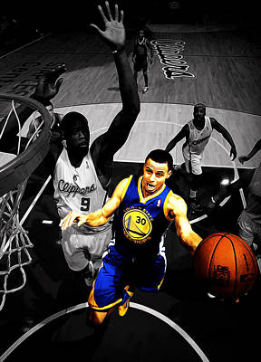 Stephen Curry In Traffic Poster