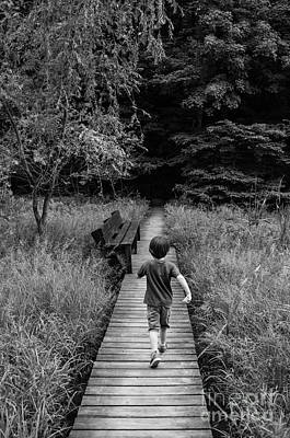 Poster featuring the photograph Stepping Into Adventure - D009927-bw by Daniel Dempster