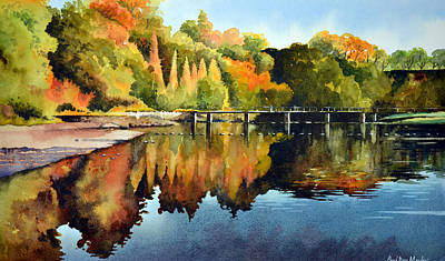 Stepping Stones Bolton Abbey Poster by Paul Dene Marlor
