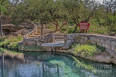 Poster featuring the photograph Steps Leading To The Blue Hole by Sue Smith