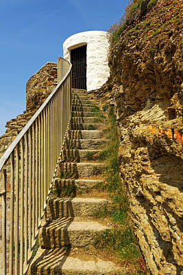 Steps To Dead Mans Hut - Portreath Poster