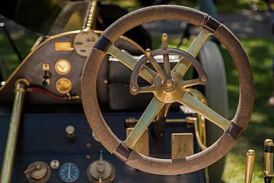 Steering Wheel 1909 Alco Black Beast Poster by David Smith
