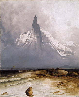 Poster featuring the painting Stetind In Fog by Peder Balke