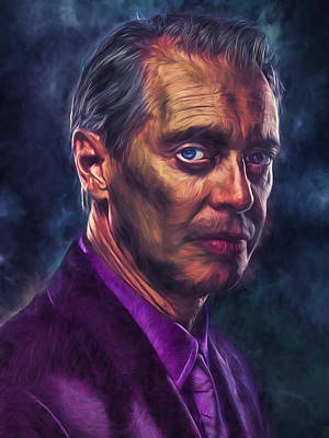Poster featuring the photograph Steve Buscemi Actor Painted by David Haskett