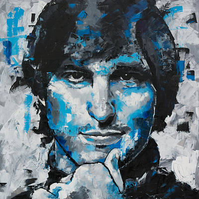 Poster featuring the painting Steve Jobs II by Richard Day
