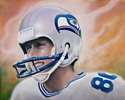 Steve Largent Poster by Joshua South