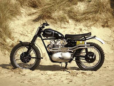 Steve Mcqueen Desert Racer Poster by Mark Rogan