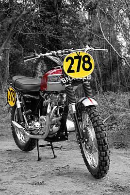 Steve Mcqueen Isdt Triumph Poster by Mark Rogan