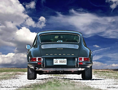 Steve Mcqueen's 1970 Porsche 911s From Opening Scene Of The Movie Le Mans Poster