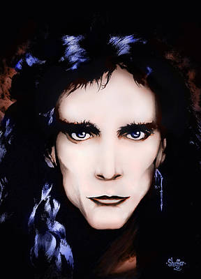 Poster featuring the painting Steve Vai by Curtiss Shaffer