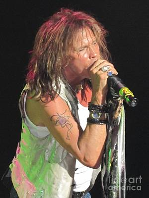 Poster featuring the photograph Steven Tyler Concert Picture by Jeepee Aero