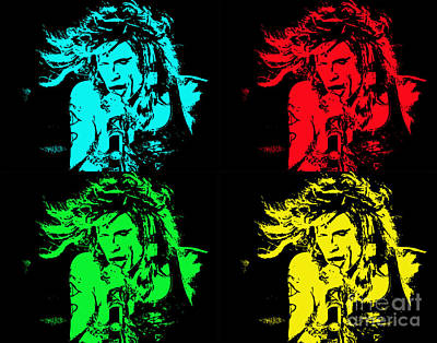 Steven Tyler Pop Art Poster by Traci Cottingham