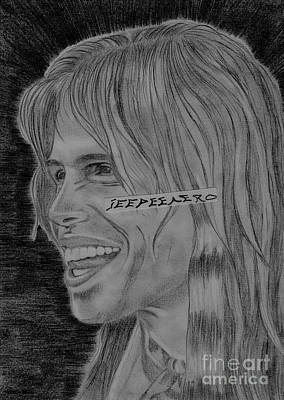 Poster featuring the drawing Steven Tyler Portrait Image Pictures by Jeepee Aero