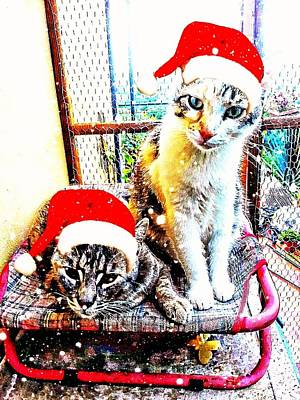 Stevie Mouse And Emmy Waiting For Christmas Poster
