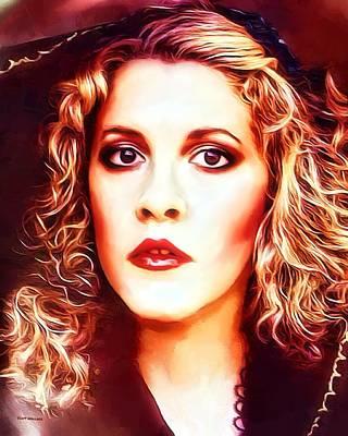 Stevie Nicks Portrait Poster by Scott Wallace