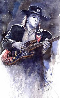 Stevie Ray Vaughan 1 Poster by Yuriy  Shevchuk