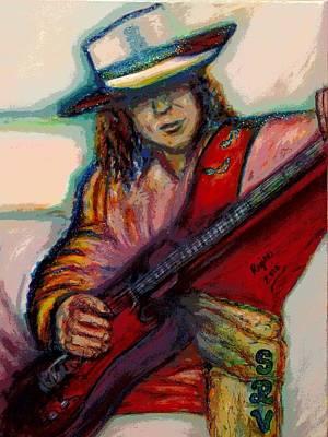 Stevie Ray Vaughan Poster by Regina Brandt