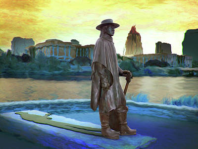 Stevie Ray Vaughan Statue - Austin, Tx Poster