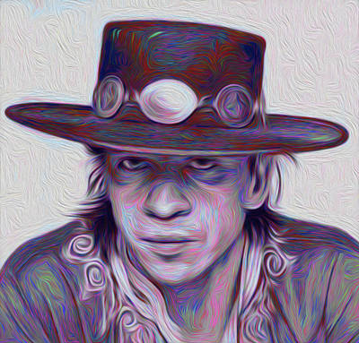 Stevie Ray Vaughan Nixo Poster
