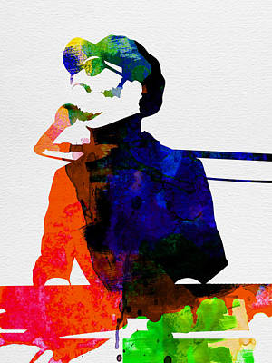 Stevie Watercolor Poster