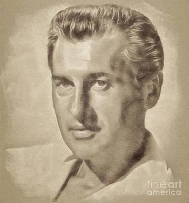 Stewart Granger, Hollywood Legend By John Springfield Poster by John Springfield