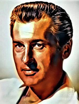 Stewart Granger, Vintage Actor. Digital Art By Mb Poster by Mary Bassett