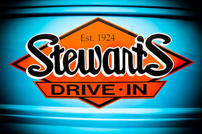 Stewart's Drive-in Sign  Poster by Colleen Kammerer