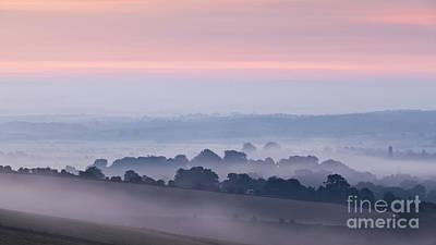 Steyning Bowl Dawn Poster by Richard Thomas