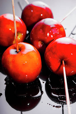 Sticky Red Toffee Apple Childhood Treat Poster