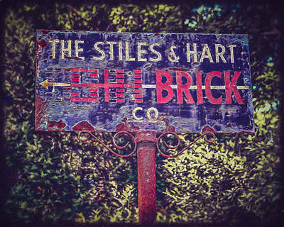Stiles And Hart Brick Company Sign Poster