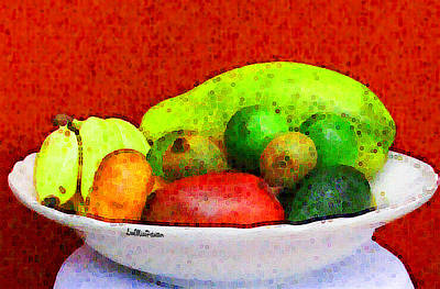 Still Life Art With Fruits Poster