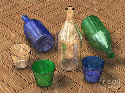 Still Life - Glass Studies No.1a - Amcg20160802 Poster by Michael Geraghty