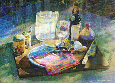 Still Life Gourmet Kitchenware Poster by R christopher Vest