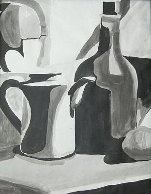 Still Life Ink Washes Poster by Carrie Maurer