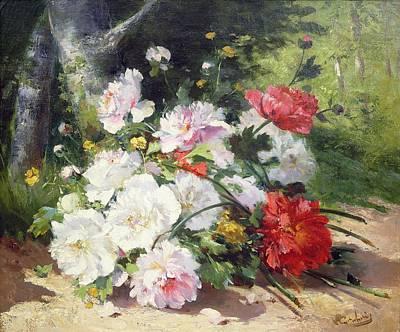 Still Life Of Flowers Poster by Eugene Henri Cauchois