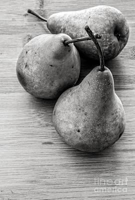 Still Life Of Three Pears Poster